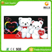 With More 10 Years Manufacture Experience Decorative Canvas Painting Shiny Plastic Stone Embroidery 3D Picture