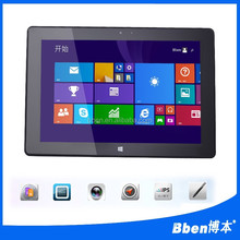 Quad Core 2GB RAM 32/64GB ROM 2.0MP*2 10.1 inch Original Bben 3G wcdma windows8.1 GPS Tablet
