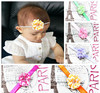 Fashion toddler infant headbands with chiffon striped flower, Cheap newborn hairbands hot selling