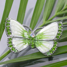 High quality antique imitation custom metal pilot wins enamel fpin badge souvenir metal with butterfly shape