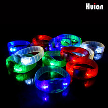 LED Light up Bracelet Flashing Blinking Color Glow Wristband for Party Disco Bar Sport Events 4 Pcs (4 Colors)