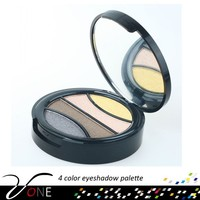 4 color round box eyeshadow packaging,shimmer and matte,eyeshadow meis cosmetics