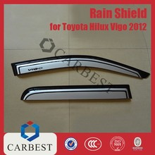 High Quality ABS Bi-Color Black And Silver Color Sun Visor Window Visor Rain Shield for Toyota Hilux Vigo 2012