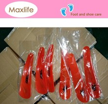 15cm Professional durable logo printed custom plastic shoe horn