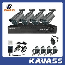 KAVASS 4CH DVR HDMI 800TVL Surveillance CCTV Video Home Security Camera System(CLG-4C800A)