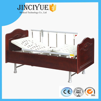 CE,ISO,FDA Certificate JCY-EB-B3 2015 Latest Two-function Wooden Electric Healthcare Home Folding Nursing Bed