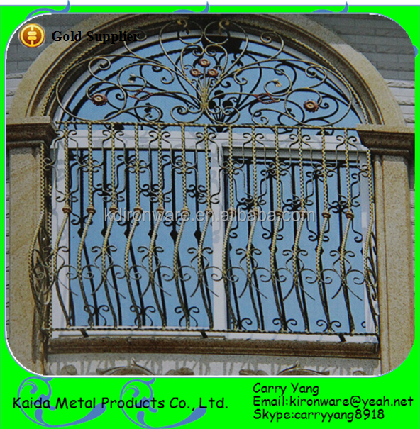Simple wrought iron house window grill design view window for Window design grill simple