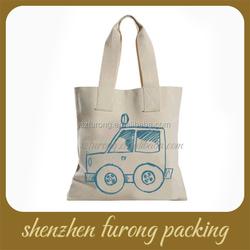 custom standard size printed blank canvas tote bag
