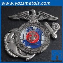 custom military marine coin metal craft