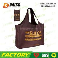 DK411 210T foldable nylon bag for shopping
