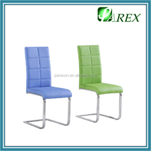 PDC720 modern design KD metal white leather dining chair