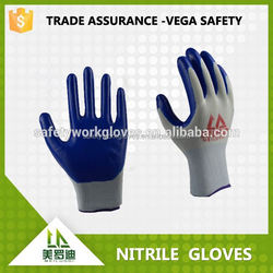 2015 cheapest diamond grip latex gloves with heavy work