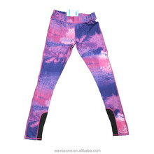 2016 new design fashion young girls' sports long pants of sunset sky print