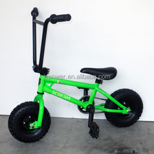 Extreme sports, rocker mini bmx bike, green color, great riding experience