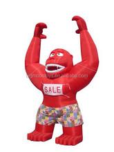 Giant inflatable animal character,inflatable monkey standing