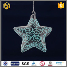 Colourful and beautiful five-pointed star crystal christmas glass ball supply art and craft