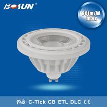 aluminium plastic housing AC85-265v saa c-tick high power cob led spotlight ar111 g53 led dimmable