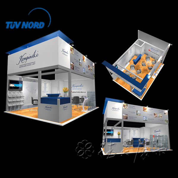 Exhibition Booth En Espanol : Exhibition booth designed and produced by detian display