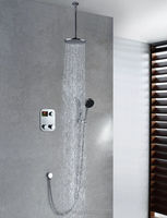 New products Square Rain Style Bath Wall Mounted Tub Shower Faucet digital shower temperature control TDRS18