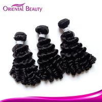 Attractive fashion fine quality less expensive black funmi human virgin high grade tape hair extension