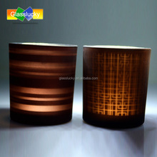 Wholesale oxidation of frosting effect with wood lid candle holder