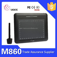Ugee M860 8x6 inch Touch Screen Digitizer for Drawing Battery Pen 2048 Pen Pressure Sensitive
