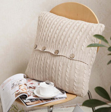 Quality life handmade crochet sofa decorative fashion bedding sleeping plain cotton knitted cushion