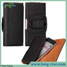 Wholesale Classical Business Style Leather Flip Case with Belt Clip for iPhone 5