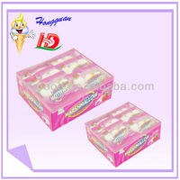 Fruit flavoured small bread shape cotton candy