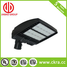 DLC approved listed led shoe box light shoe box 300w Dimmable dim adjust the angle neck arm mount