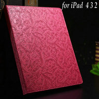 OEM ODM Paypal Accepted New Design Black Brown Rose Green Red Elegant Fancy for Ipad 4 for Ipad 2 for Ipad 3 Case Notepad