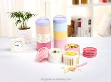 2015 New Product Two Layers Bento Lunch Box and food Container/Plastic lunch box/Plastic food storage container good for picnic