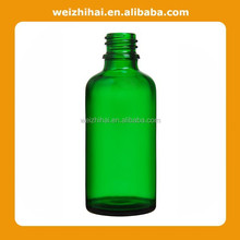 50ml green glass container for beauty product