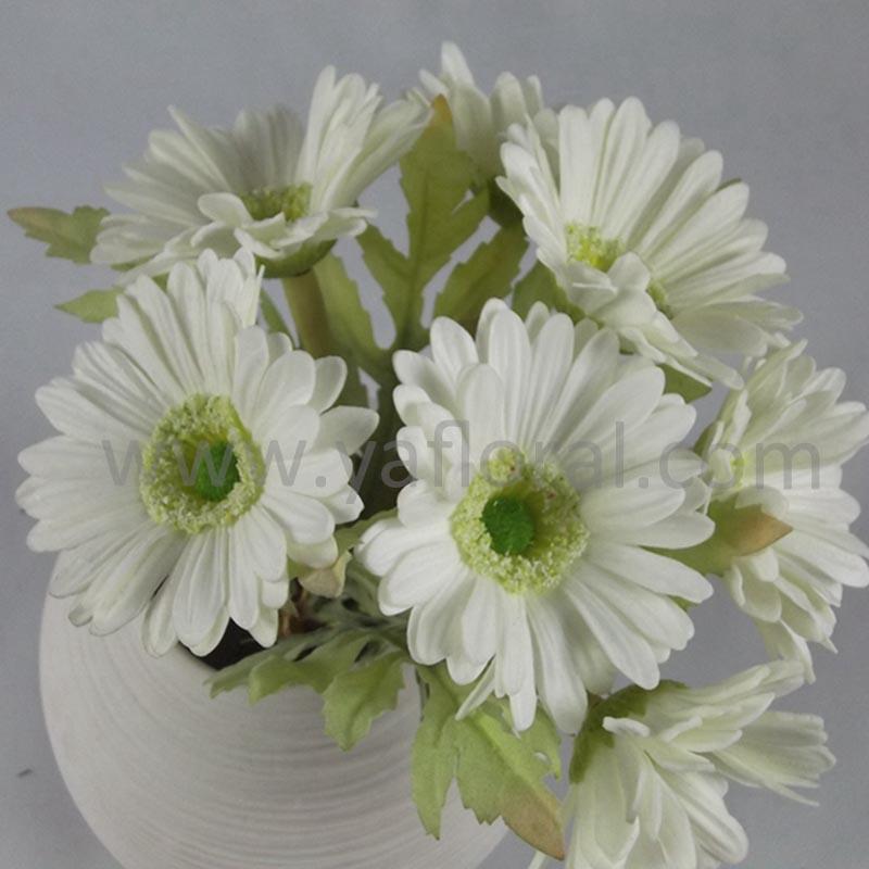 7 Heads White Artificial Gerbera Wedding Bouquet For Sale Artificial Daisy Flower
