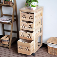 Wooden Storage Cabinets with Wheels