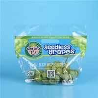High Quality Plastic For Fruit Grapes Packing Zipper Pouch Bag