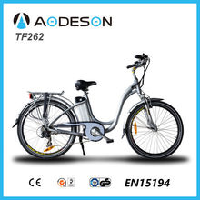26inch fashion city E Bike, Electric Bike TF262 with baby seat