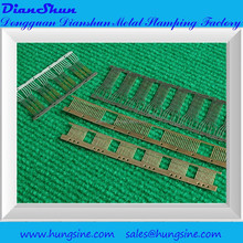 High quality factory small metal stamping&punching parts, with plating finishing (DS7011.010)