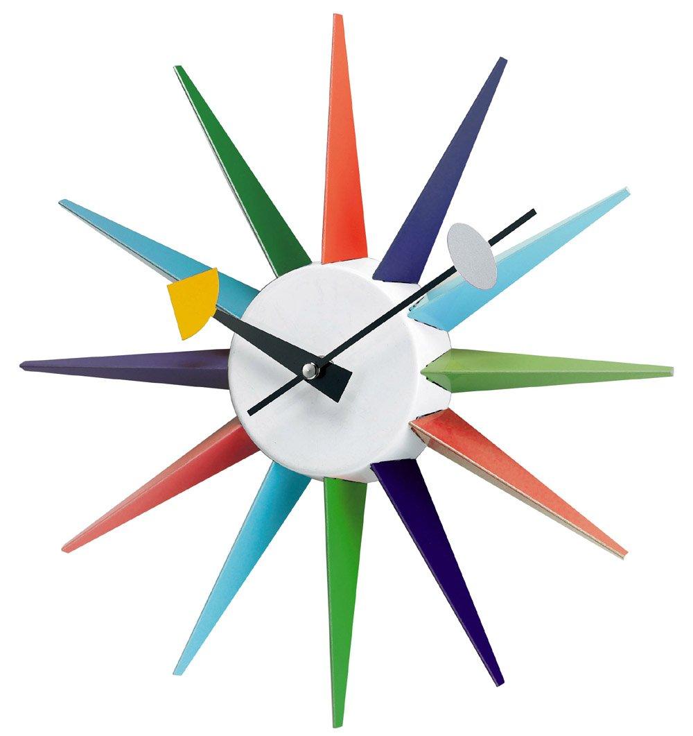 R tro knoll george nelson starburst horloge 50 s eames re for Horloge eames