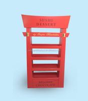 Susshi Dersert Chocolate Cardboard Pallet Display Stand