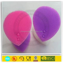 Colorful factory price silicone face cleaning brush/silicone make up brush