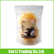 dried food packaging stand up clear zip bag