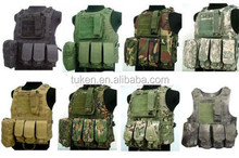 USMC AIRSOFT TACTICAL MILITARY MOLLE COMBAT ASSAULT PLATE CARRIER VEST/ Made by high density nylon material. Fully loaded