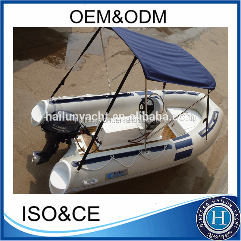 outboard engine boat with PVC or Hypalon tube material for sale