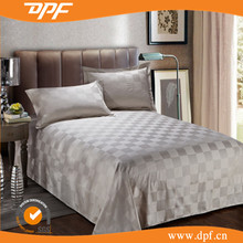Hot sale new design checker jacquard indian cotton bed sheets