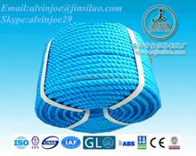 High Quality Colorful 3 Strands Twist Polyethylene Rope