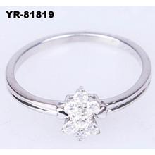 Fashion highly polished AA white gold diamond wedding ring
