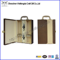 2 bottles leather wine box,wine carrier