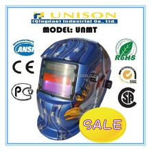 Blister packing auto darkening blue hawk welding helmet