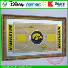 University of Lowa Basketball Framed Full Court black wall mirrors